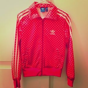 ADIDAS LIP TRACK JACKET in size S